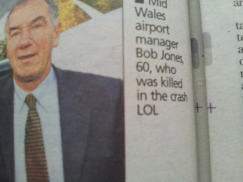 Newspaper apologizes for adding LOL to dead man's photo caption